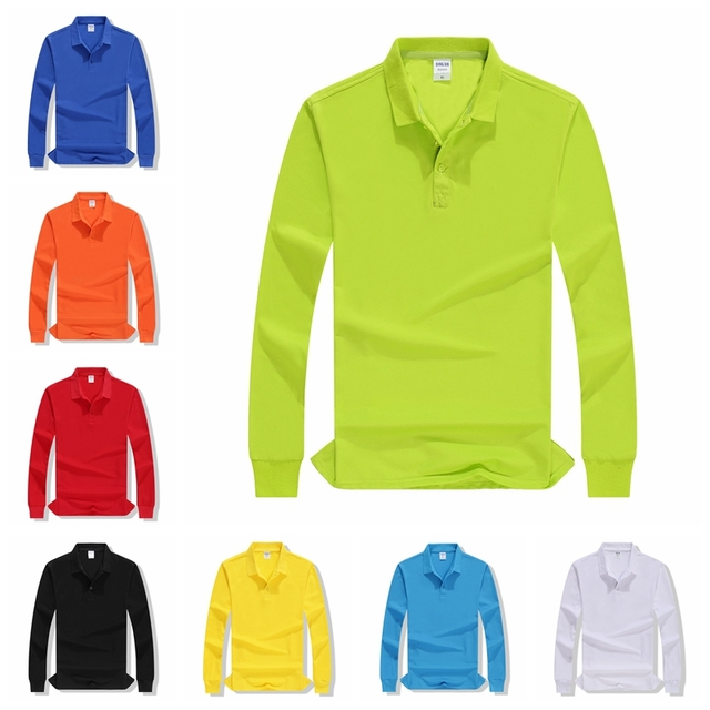 Autumn High Quality Polo Shirts customization Female Casual Solid Sweatshirt Women Cotton Long Sleeve Tops Shirt Plus Size