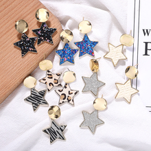 Resin Stars Alloy Glass Dangle Earrings Women Fashion Korea 2019 Boho New Statement Drop Jewelry Gifts Party Wholesale