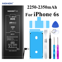Nohon Battery For iPhone 6s iPhone6s 2250 2350mAh Max Capacity Li polymer Built in Batteries + Tools For Apple iPhone 6s Battery