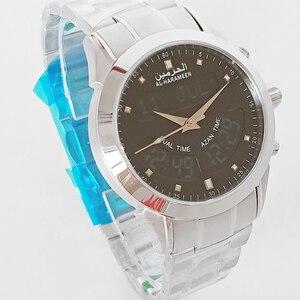 Image 3 - Müslüman ezan İzle 6102 WA 10 32mm paslanmaz çelik otomatik cami namaz saati tüm müslüman arkadaşı
