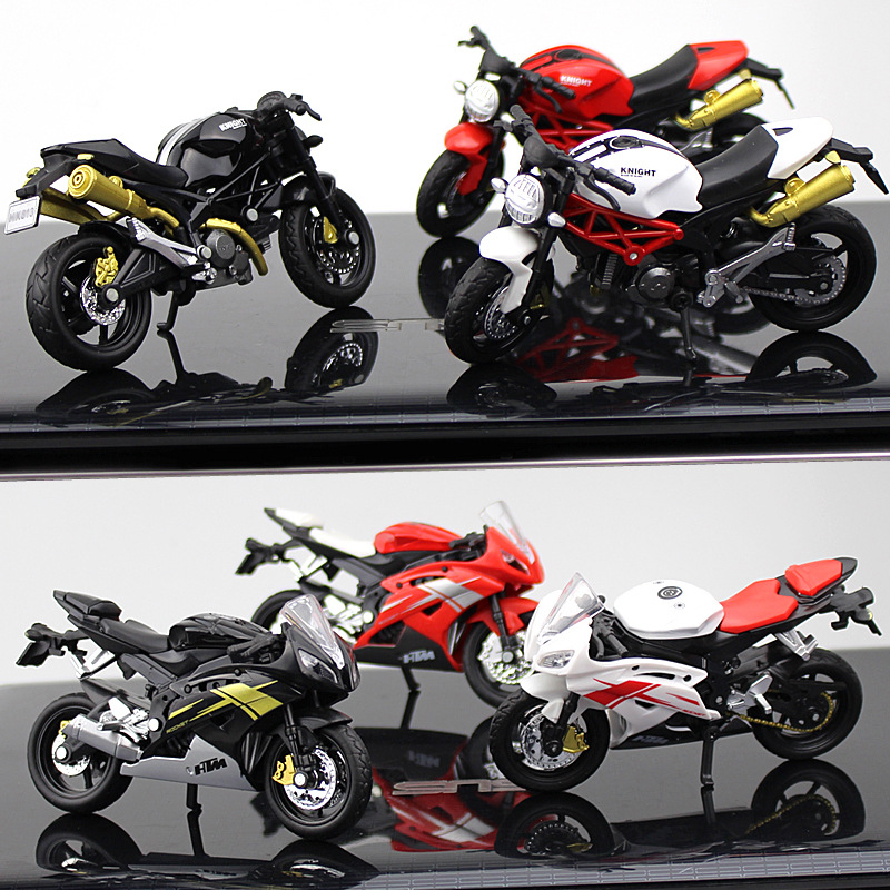 Crazy Magic Finger Alloy Motorcycle Model 1:16 Simulation Bend Road Mini Racing Toys Adult Collection Gifts