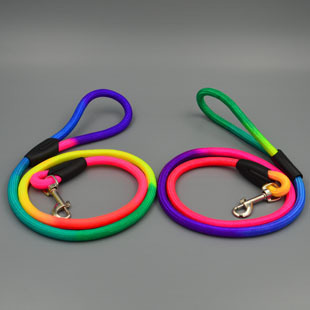 Original factory supply pet color leash dog chain traction rope rope small to medium sized dogs nylon