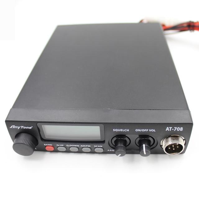 Anytone AT-708 Plus CB Radio 8W 27MHz 480AM-480FM 24.265-29.655MHZ High Quality Car Mobile Radio Station Communciator 3