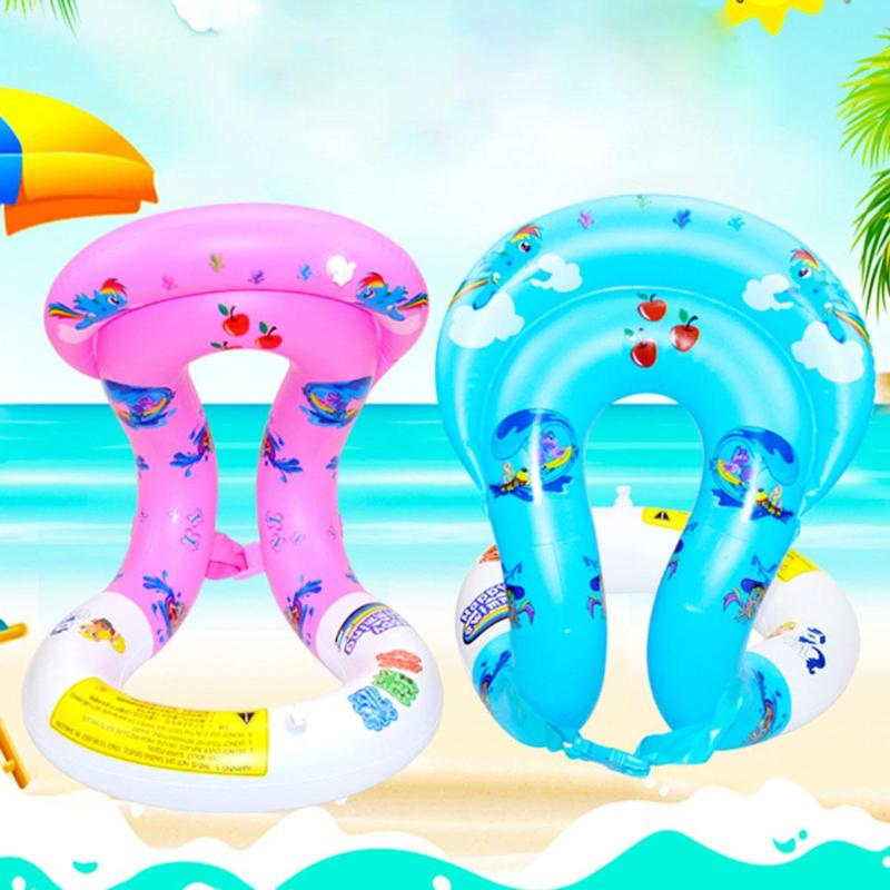 Summer Kids Swimming Float PVC Inflatable Swim Seat Safety Water Toy Outdoor Safe Funny Water Play Float Toys For Kids Children