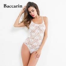 2018 Lace Bodysuit Women Floral Embroidery Sexy Bodysuit Perspective Bodycon Bodysuit Jumpsuit Overalls