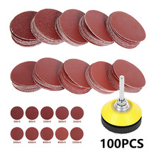 Sanding Discs Pad Sandpaper Sanding Disc 60-1000 Grit Paper Sanding Paper Abrasive Polishing Tools with Shank for Rotary 100PCS