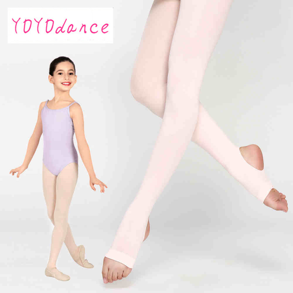 Kid Girl Ballet Stretchy Dance Stirrup Tights Soft Breathable Gymnastic  Pantyhose Children Cotton Spandex Collant  4822