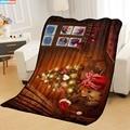 На заказ рождественское одеяло s на дом/диван/офис портативный дорожный Чехол одеяло печать мягкий сон одеяло