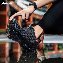 Abhoth erkek ayakkabıları nefes örgü koşu ayakkabıları açık alan sporları eğitim spor ayakkabı kaymaz aşınmaya dayanıklı spor ayakkabı kadın