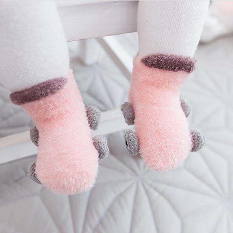 1 par de calcetines para bebés con patrón de coche bonito para niñas calcetines cálidos para recién nacidos de invierno suaves calcetines para bebés de 0 a 4 años de edad