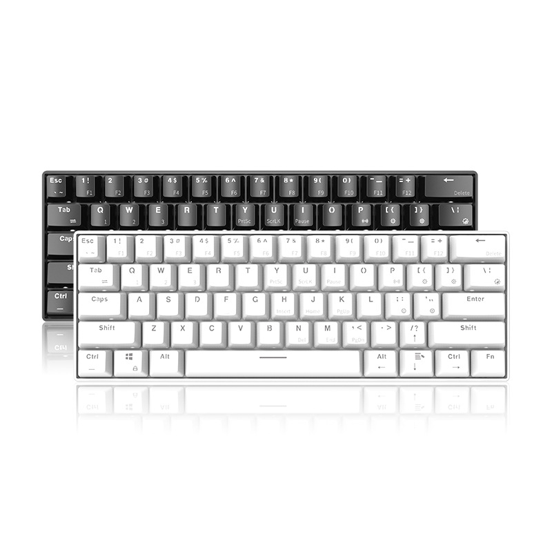 61-key USB Bluetooth Mechanical Keyboard for Mobile Tablet Wins/Android/iOS image