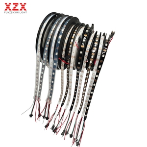 5m WS2812B WS2812 Individually Addressable Smart RGB Led Strip Light 30/60/144leds Black/White PCB Waterproof IP30/65/67 DC5V