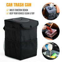 Car Auto Trash Cans Cupboard Door Back Trash Rack Storage Garbage Rubbish Bag Can Holder Trash Rack