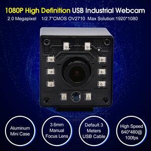 Image 5 - אינפרא אדום USB Webcam 1080P מלא HD MJPEG 30fps ראיית לילה IR לחתוך מיני USB מצלמה עם נוריות עבור אנדרואיד, לינוקס, Windows, מחשב