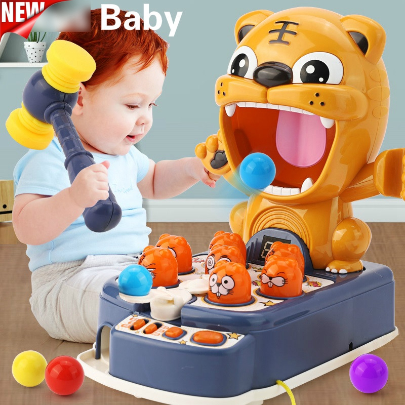 Children Light Music Whac-A-Mole Toys Multifunctional Play Hit Hammering Game Educational Interactive Toys Christmas Gift