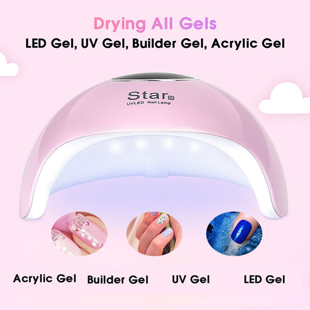 36W LED nail dryer uv nail lamp ultraviolet lamp for nails lamp for gel polish uv led lamp manicure apparatus manicure machine