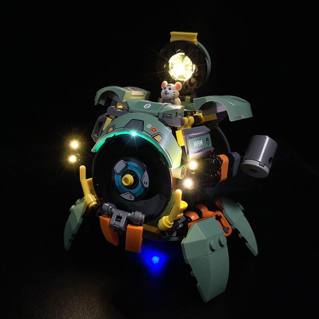 USB Powered LED Lighting Kit For Overwatch Wrecking Ball 75976 (LED Included Only, No Kit)For Children Kid Educational Toys Gift