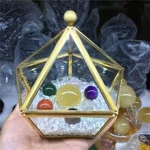Натуральный цвет кварца хрустальный шар семь звезд массив желтый