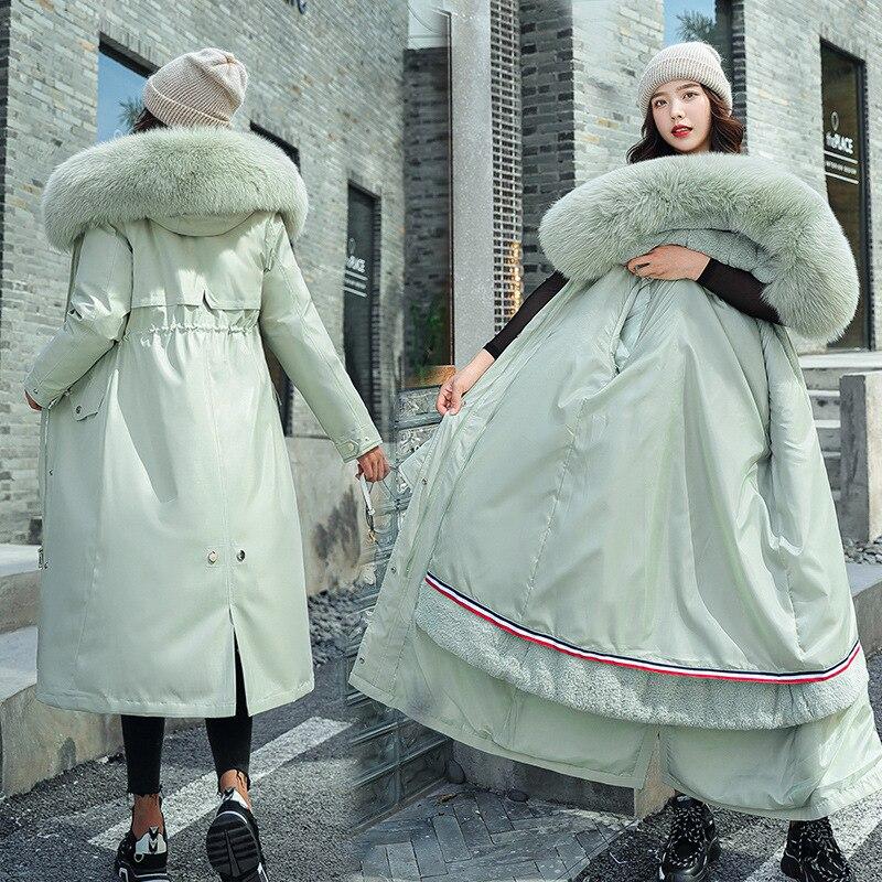 Женская теплая зимняя куртка большого размера плюс размер пальто женские парки Бутик Женская одежда 2020 женские пальто и куртки|Парки| | АлиЭкспресс