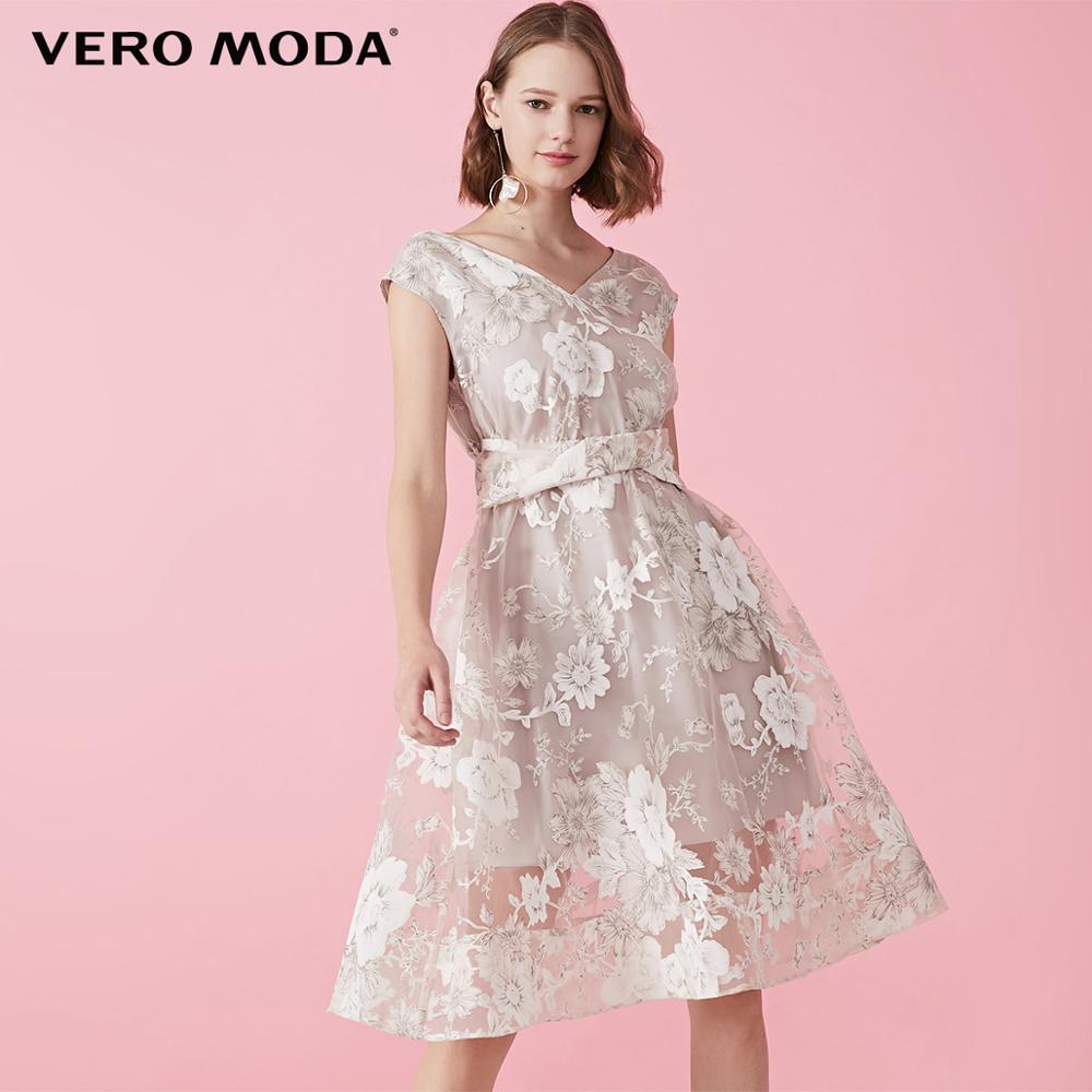 Vero Moda Women's Print Patched V-neckline Side Zip Dress | 31927B550