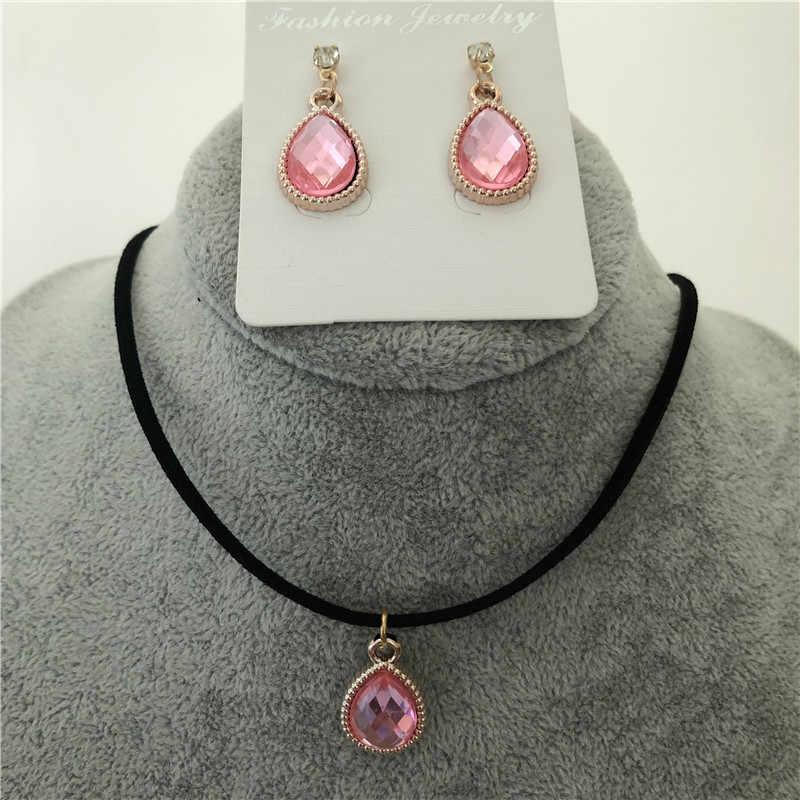 새로운 dangle brincos 크리스탈 물방울 귀걸이 여자를위한 여자 선물 쥬얼리 패션 earings boucle d' oreille