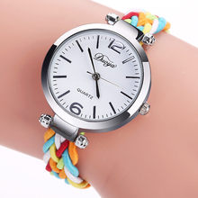 Women Watches Top Brand Luxury Ingenious Multicolor Alloy Dial Watch Nylon Strap Analog Quartz Wrist Watches Q3(China)
