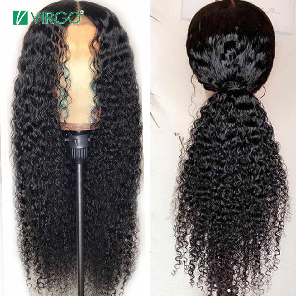 Volys Virgo 4X4 Closure Wig Peruvian Curly Lace wig Human Hair Wigs with Baby Hair Curly Wig for Black Women Remy Hair