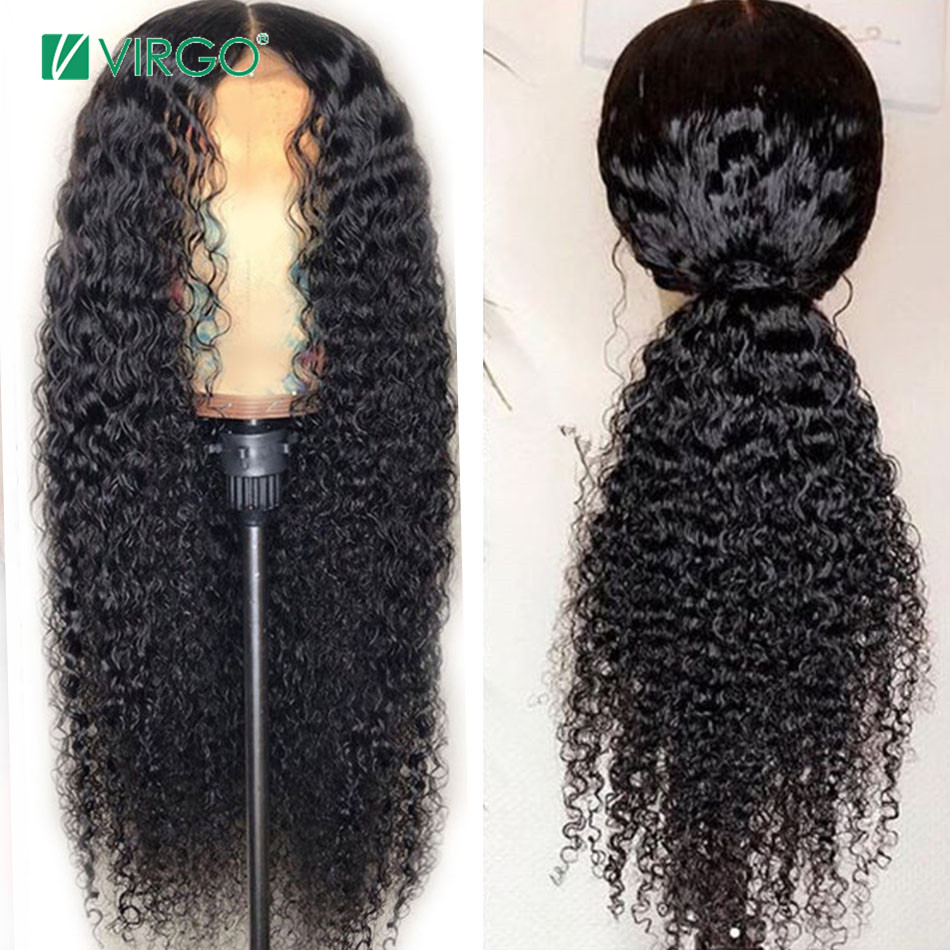 Volys Virgo 4X4 Closure Wig Peruvian Curly Lace wig Human Hair Wigs with Baby Hair Curly Wig for Black Women Remy Hair title=