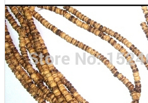 """5mm(1/4"""") Dia. Approx 520Pcs hot- Coconut Wood Column Loose Beads watch aliexpress spacers other jewelry lot(China)"""