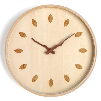 Simple Wooden Wall Clock Modern Design Living Room Decoration Nordic Solid Wood Clocks Hanging Wall Watch Home Decor Silent