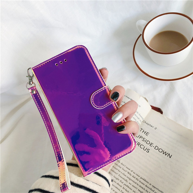 Xiaomi Redmi Note 7 Pro Case Magnetic Leather Case for Xiomi Redmi 7 7A Note7 7Pro Redmi7 Flip Stand Mirror Net red Phone Cover