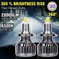H11 светодиодный H7 светодиодный 20000LM H1 H8 HB3 9005 HB4 9006 светодиодные лампы для автомобильных фар светодиодный фары лампы: 6-стронние Кубики-3D высок...