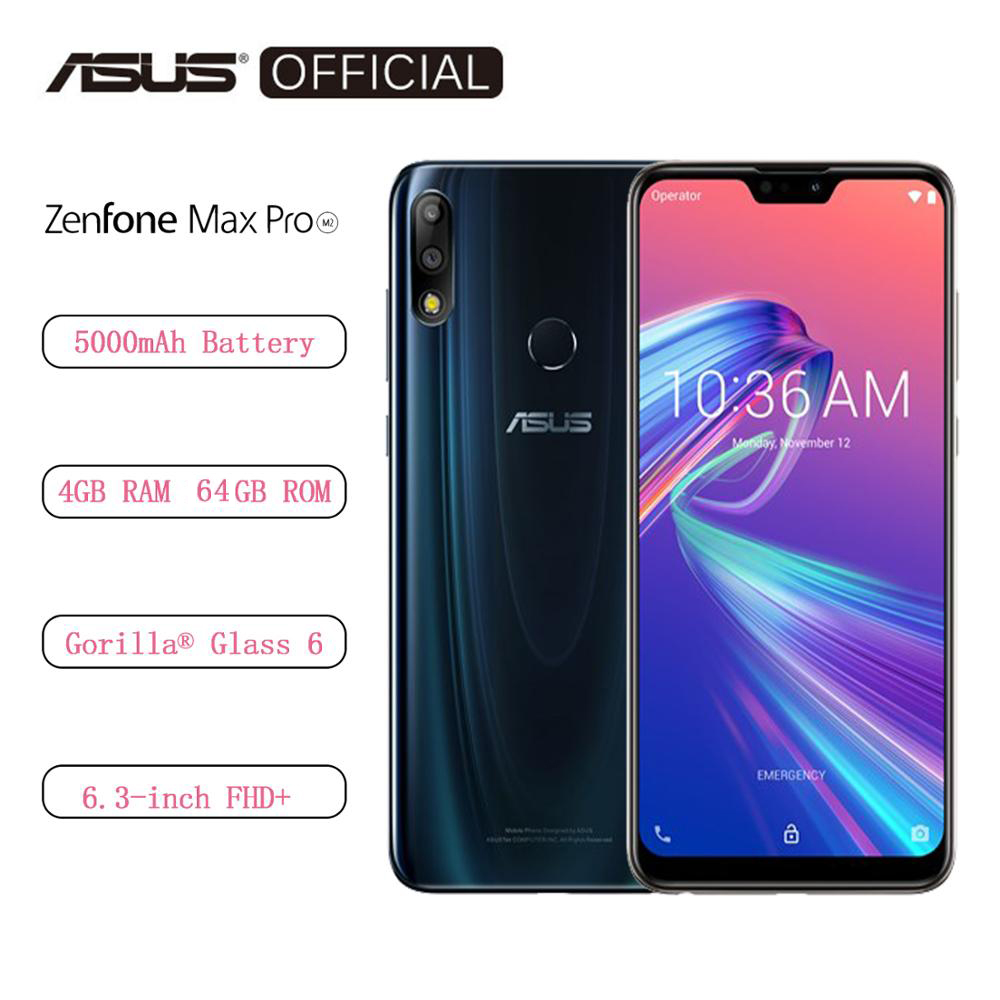 Global Version ASUS ZenFone Max Pro (M2) ZB631KL 4GB RAM 64GB ROM 6.3 Inch 4G LTE Smartphone Face ID 5000mAh Android8.1