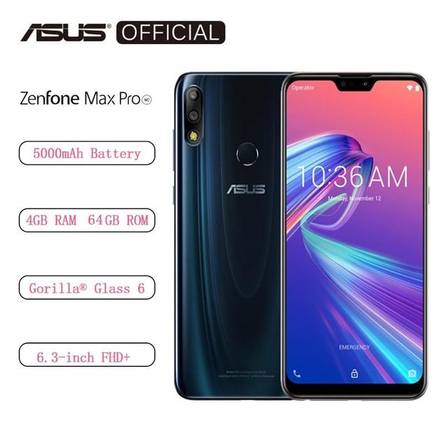 Wersja globalna ASUS ZenFone Max Pro (M2) ZB631KL 4GB pamięci RAM 64GB ROM 6.3 cal 4G smartphone lte face id 5000mAh Android8.1