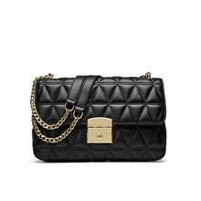 Bolso de mano de marca de moda de alta calidad bolso de mujer de cuero genuino Paquete de cadena de chica dulce bolso de bandolera de un solo hombro para mujer