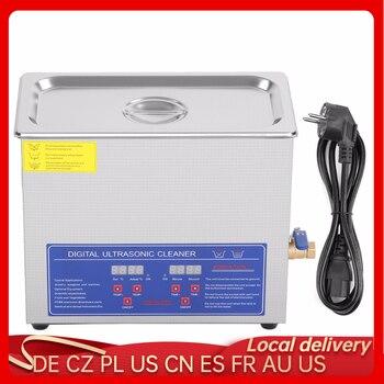 Calentador limpiador ultrasónico calentado industrial de 6L de acero inoxidable con temporizador...