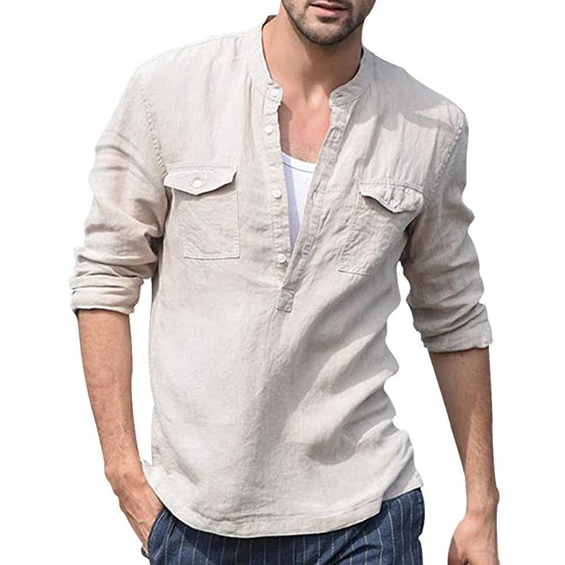 2020 HOT Men's Shirt Camisa Summer long sleeve Male Blouse Top New Style Comfortable Cotton And Shirt Men S-3XL