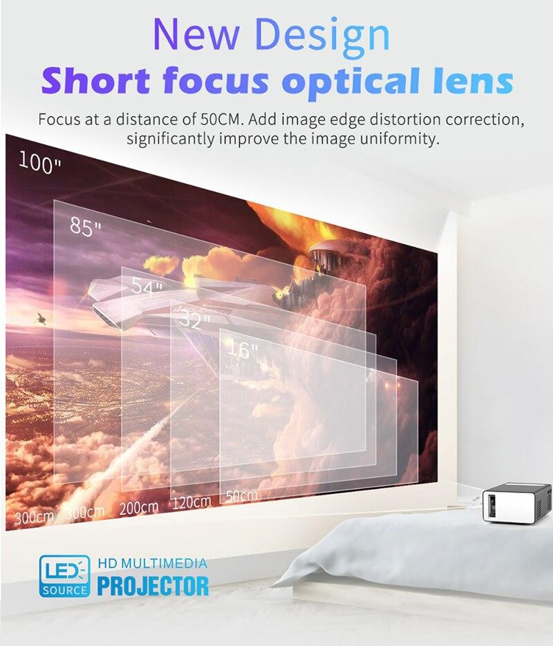 2020 nova t300 led projetor de vídeo mini projetores 1080p hdmi usb portátil completo projetor hd para o telefone dia das bruxas projetor casa-5