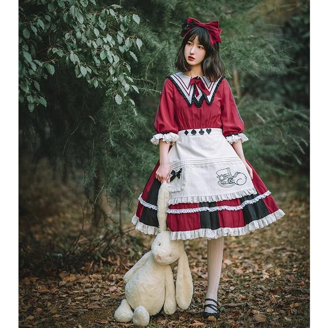 Фото хлопковый милый фартук в стиле лолиты винтажный кружевной фартук