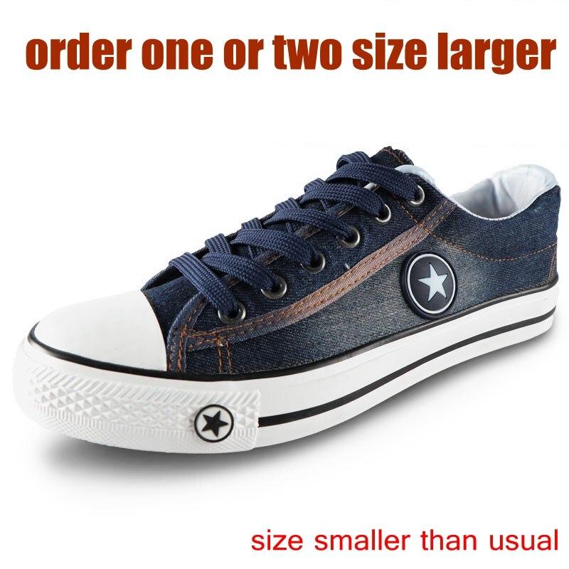 Image 3 - Denim Sneakers Men Vulcanize Shoes Lace Up Canvas Trainers  Men Casual Shoes Anti Slip Sneaker Male Flats Zapatos De HombreMens Vulcanize Shoes   -