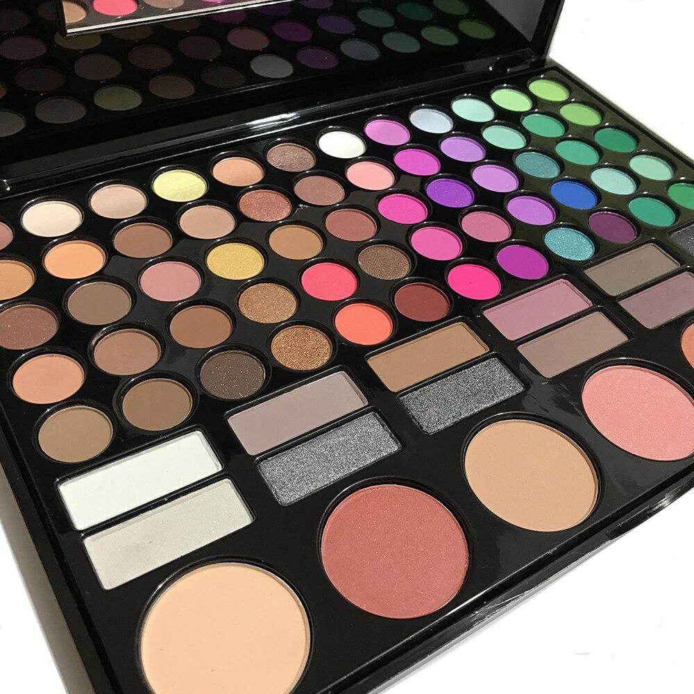 Image 4 - SANIYE  78 Colors Eyeshadow Palette with Mirror Beauty glazed Multicolor Eye Shadow Blusher palette Big Makeup  78P04Eye Shadow   -