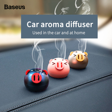 Baseus Mini Metal Car Air Freshener For Dashboard Auto Outlet Aromatherapy Diffuser Solid Perfume Flavoring Home