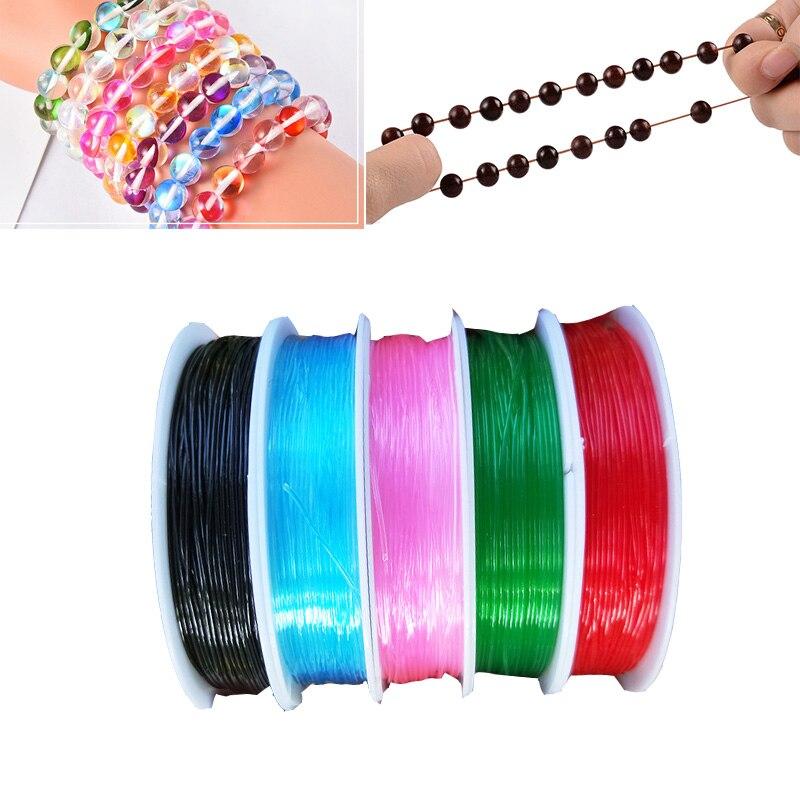 Прозрачный Красочный Эластичный прозрачный шнур для DIY ожерелье браслет ювелирных изделий Бисероплетение нитей/проволоки/ниток