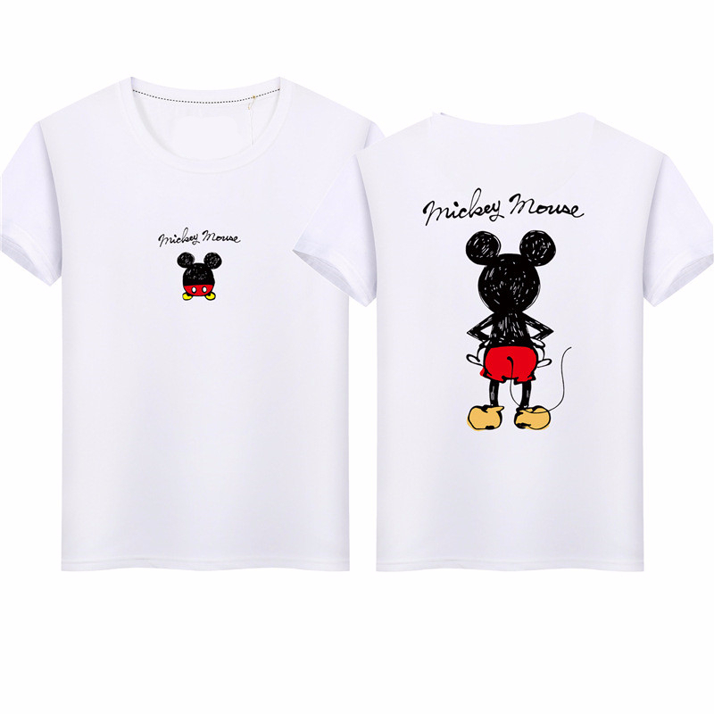 Dad Mom Baby Kids Girls Boys Mickey Mouse Cartoon Print T-Shirt Tops For Summer Family Matching Clothes Outfits