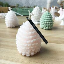 Новинка, 3D рождественская елка, сосновый конус, силиконовая свеча, форма для мыла, глина, сделай сам, декор торта