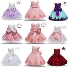 Платье для маленьких девочек платье принцессы Милые Бантик 3, 6, 9, 12, 18, 24 месяцев, для детей ясельного возраста вечерние 1st От 1 до 2 лет на день ...