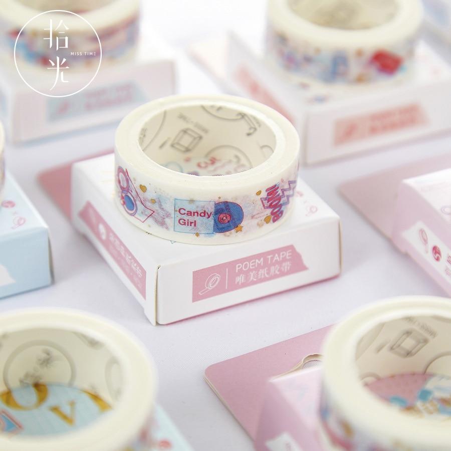1 PCS Washi Tape Hot Stamping Washi Tape Masking Tape Cute Cartoon Pattern Washi Tape Diary Album Journal Decoration Stickers
