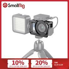 Smallrig Vlog Kooi Voor Dji Osmo Actie (Compatibel W/Microfoon Adapter) compatibel W/De Cynova Dual 3.5Mm USB C Adapter 2475