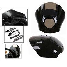 Headlight Fairing XL883N Motorcycle 1200 ABS Quarter for Harley Sportster FXR Dyna W/Windshield