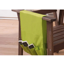 Simple Hanging Sofa Side Storage Bag for Sundries Remote Control Holder Organier 4 Pockets Over Armchair Couch Pouch